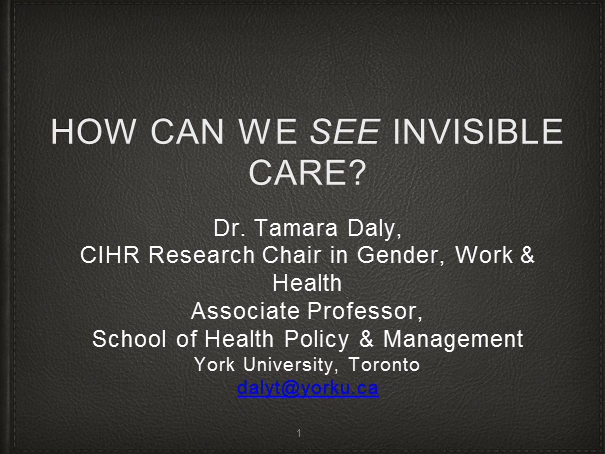 How Can We See Invisible Labour in Long-term Care?