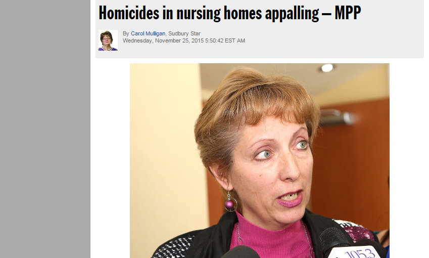 Homicides in nursing homes appalling